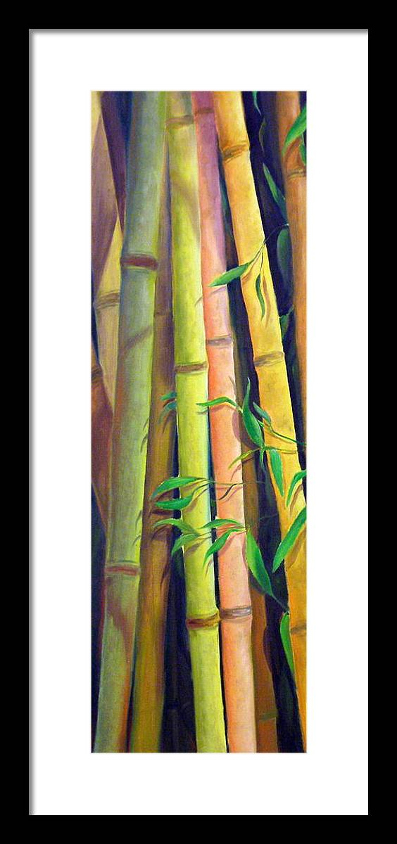 Plant Framed Print featuring the painting Bamboo by Dorothy Nalls