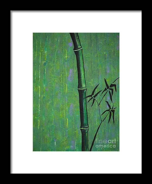 Bamboo Framed Print featuring the painting Bamboo by Jacqueline Athmann