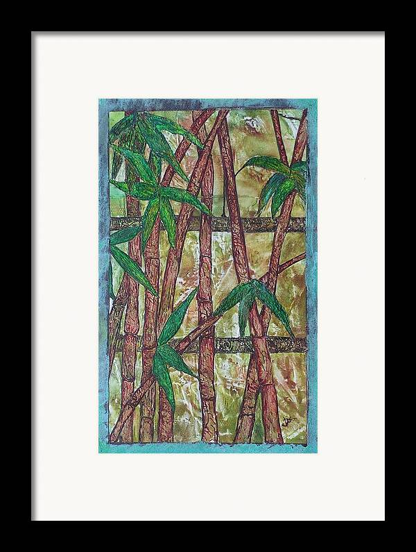 Bamboo Framed Print featuring the painting Bamboo by John Vandebrooke