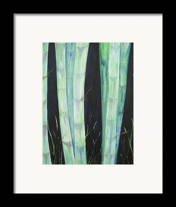 Bamboo Framed Print featuring the painting Bamboo by Murielle Hebert