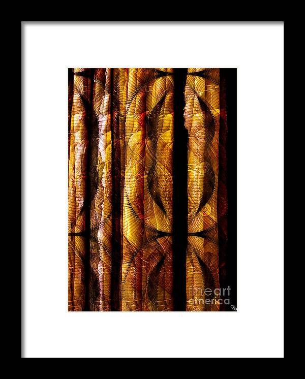 Bamboo Framed Print featuring the digital art Bamboo by Ron Bissett