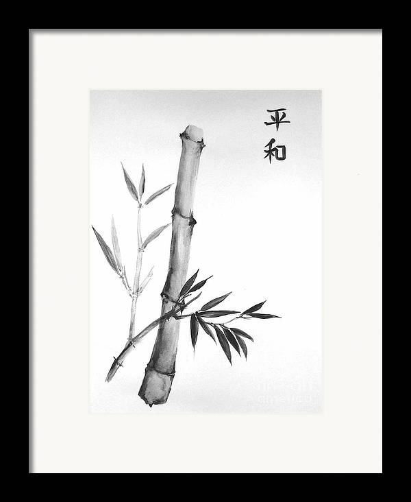 Framed Print featuring the painting Bamboo by Sibby S