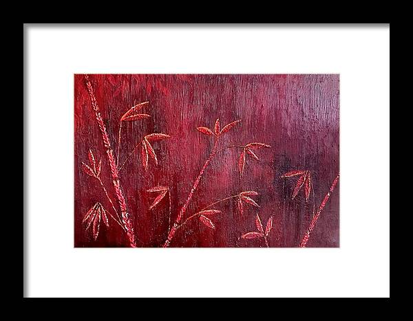 Framed Print featuring the painting Bamboo Trees by Pruthvi Indla