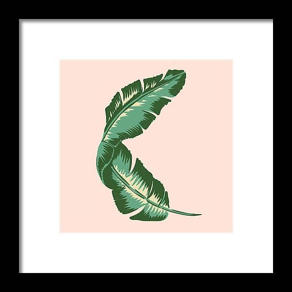 Leaf Framed Print featuring the digital art Banana Leaf Square Print by Lauren Amelia Hughes