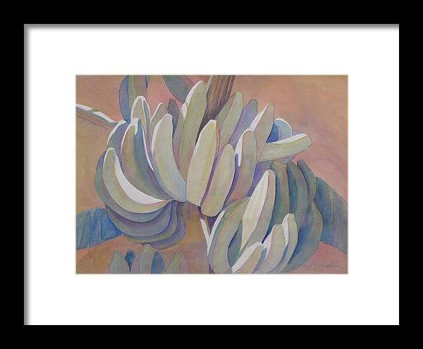 Banana Painting Framed Print featuring the painting Banana Series 26 by Carol McDonald