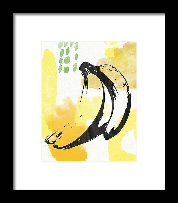 Bananas Framed Print featuring the painting Bananas- Art By Linda Woods by Linda Woods