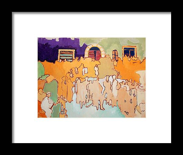 Band Framed Print featuring the painting Banda di Villaggio by Kurt Hausmann