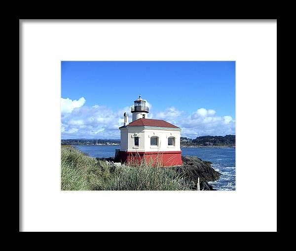 Coquille Lighthouse Framed Print featuring the photograph Bandon 1 by Will Borden