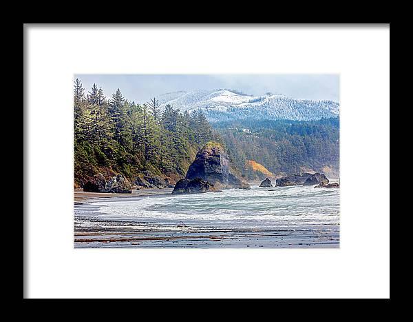 Bandon Oregon Framed Print featuring the photograph Bandon Oregon by David Millenheft