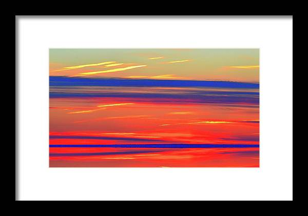 Abstract Framed Print featuring the digital art Bands Of Colour Five by Lyle Crump
