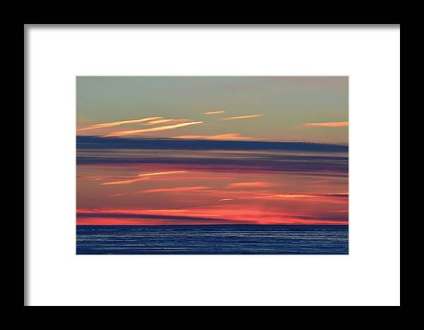 Abstract Framed Print featuring the photograph Bands Of Colour by Lyle Crump