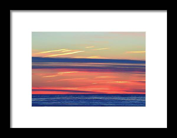 Abstract Framed Print featuring the photograph Bands Of Colour Two by Lyle Crump