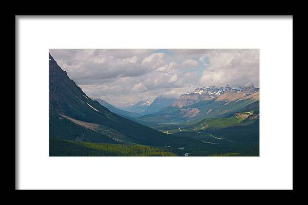 Moraine Lake Framed Print featuring the photograph Banff National Park - View Through The Valley by Andre Distel