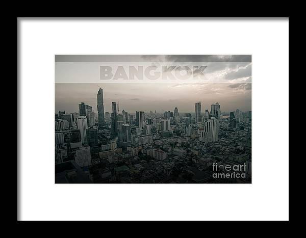 Skyline Framed Print featuring the photograph Bangkok by Pavel Kasak