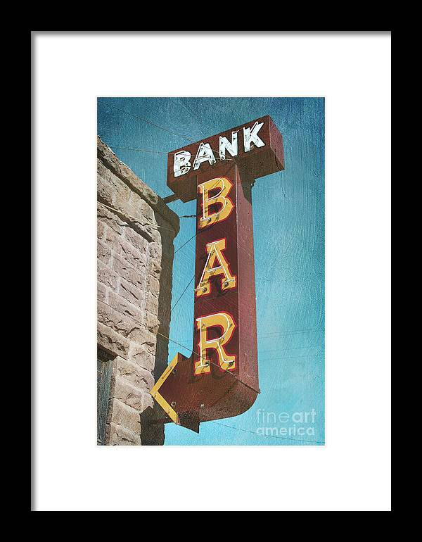 Bar Framed Print featuring the photograph Bank Bar by Chris England