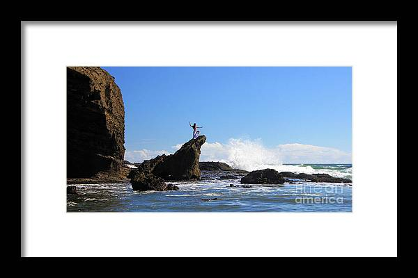 Auckland Framed Print featuring the photograph Bethells Beach by Gee Lyon