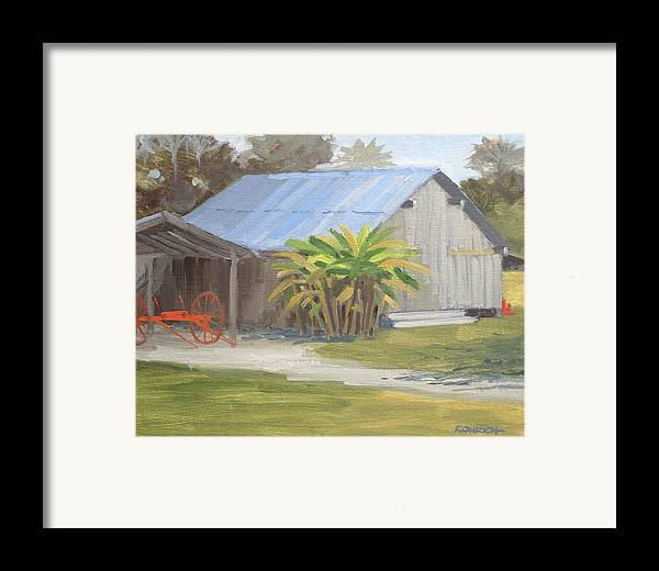Barn Framed Print featuring the painting Barberville Barn by Robert Rohrich
