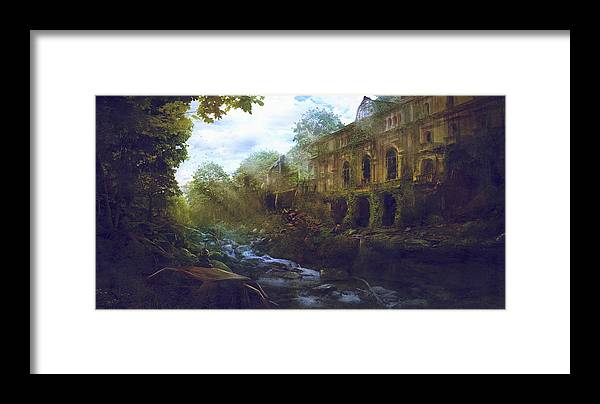 Sciencie Fiction Framed Print featuring the painting Barcelona Aftermath El Liceu I Les Rambles by Guillem H Pongiluppi