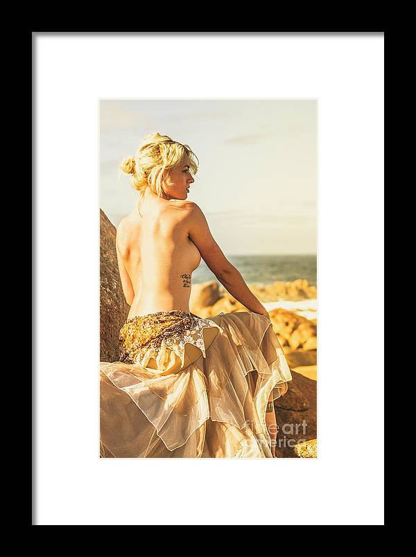 Fine Art Framed Print featuring the photograph Bare Elegance by Jorgo Photography - Wall Art Gallery