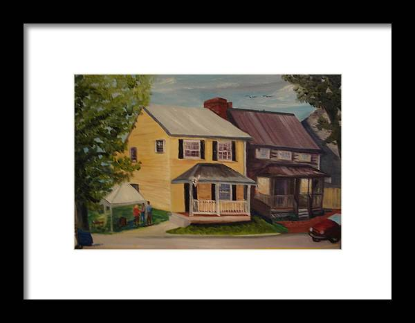 Antique Framed Print featuring the painting Barefoot Boutique by Gloria Condon