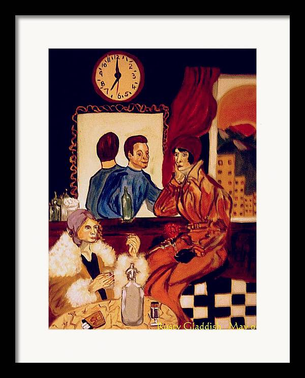 1920s Framed Print featuring the painting Barflies by Rusty Woodward Gladdish