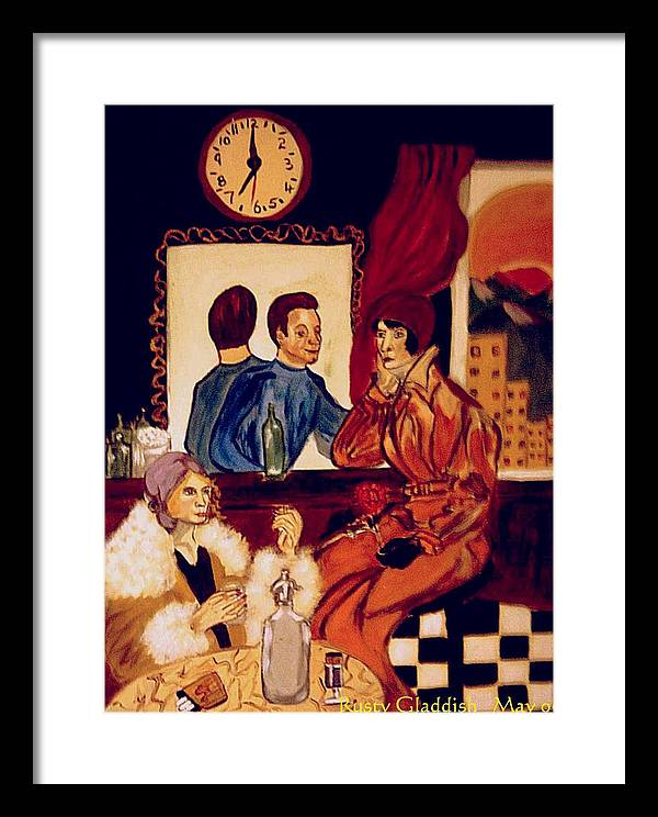 1920s Framed Print featuring the painting Barflies by Rusty Gladdish