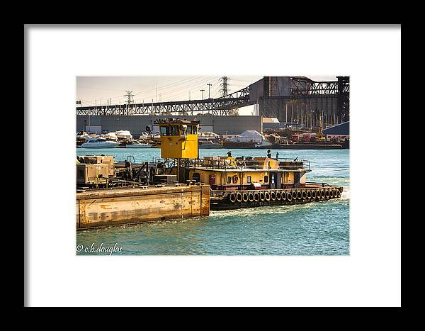 Morgan Framed Print featuring the photograph Barge Movement With The Morgan by Christine Douglas