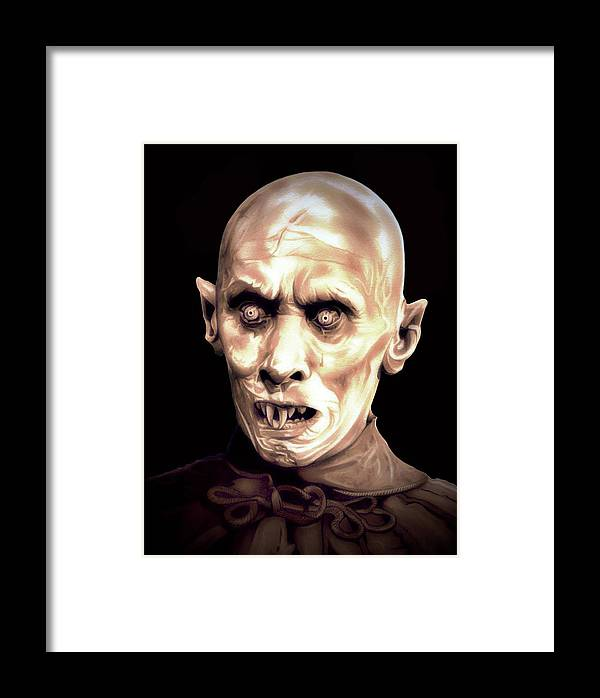 Vampire Framed Print featuring the drawing Barlow by Fred Larucci