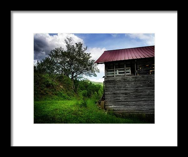 Barn Framed Print featuring the photograph Barn After Rain by Greg Mimbs
