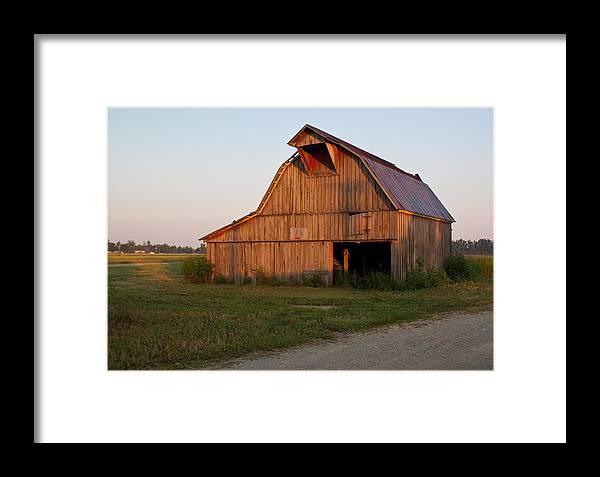 Barn Framed Print featuring the photograph Barn At Early Dawn by Douglas Barnett