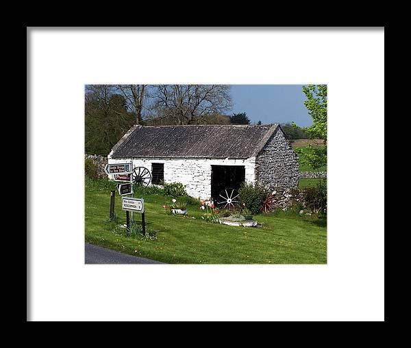 Ireland Framed Print featuring the photograph Barn At Fuerty Church Roscommon Ireland by Teresa Mucha