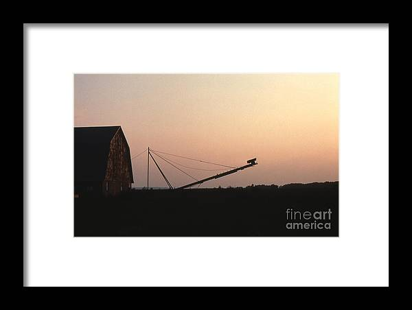 Barn Framed Print featuring the photograph Barn At Sunset by Timothy Johnson