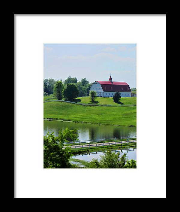 Gorgeous Framed Print featuring the photograph Barn Beautiful In Alabama by Kathy Clark