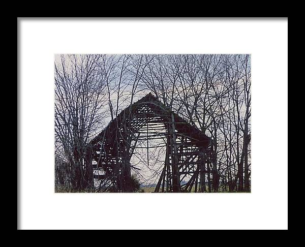 Barn Framed Print featuring the photograph Barn Beyond by Douglas Settle
