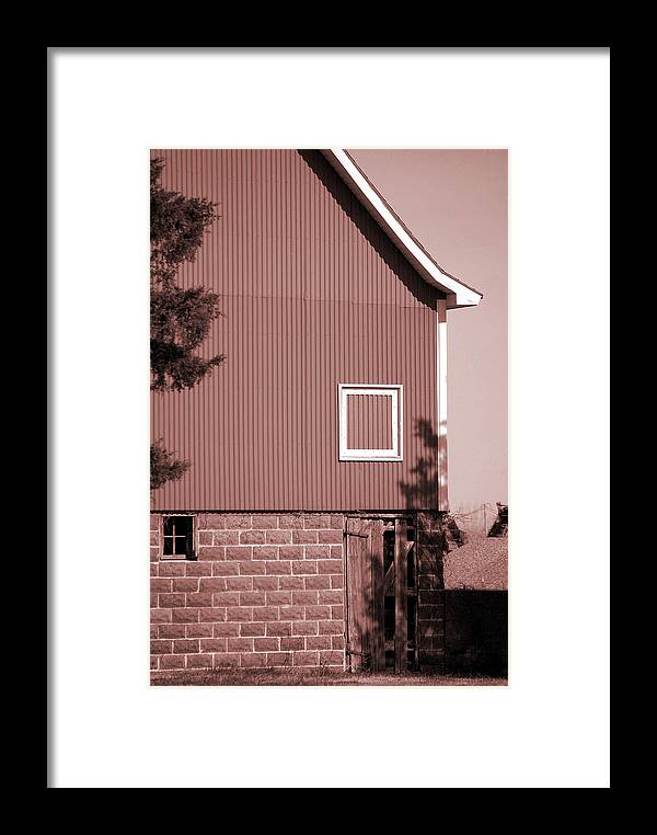 Barn Framed Print featuring the photograph Barn Detail by Jame Hayes