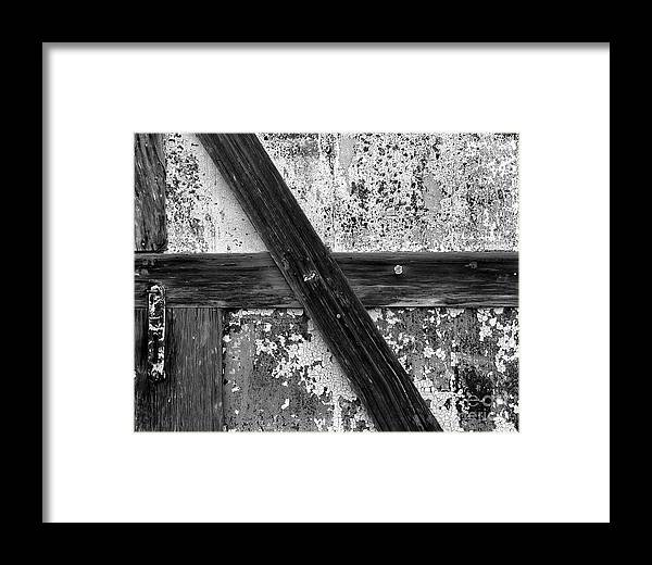 Cslanec Framed Print featuring the photograph Barn Door by Christian Slanec