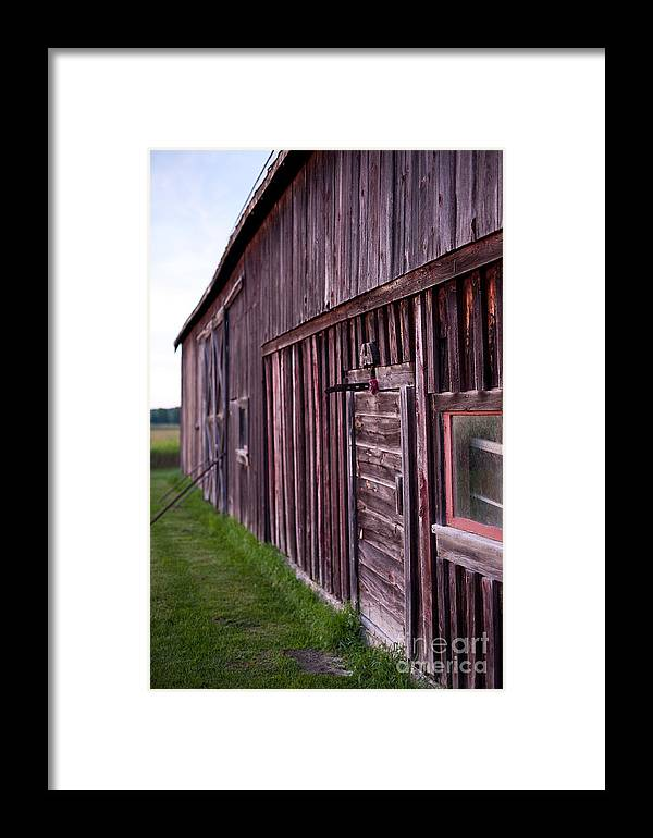 Rustic Framed Print featuring the photograph Barn Door Small by Steven Dunn
