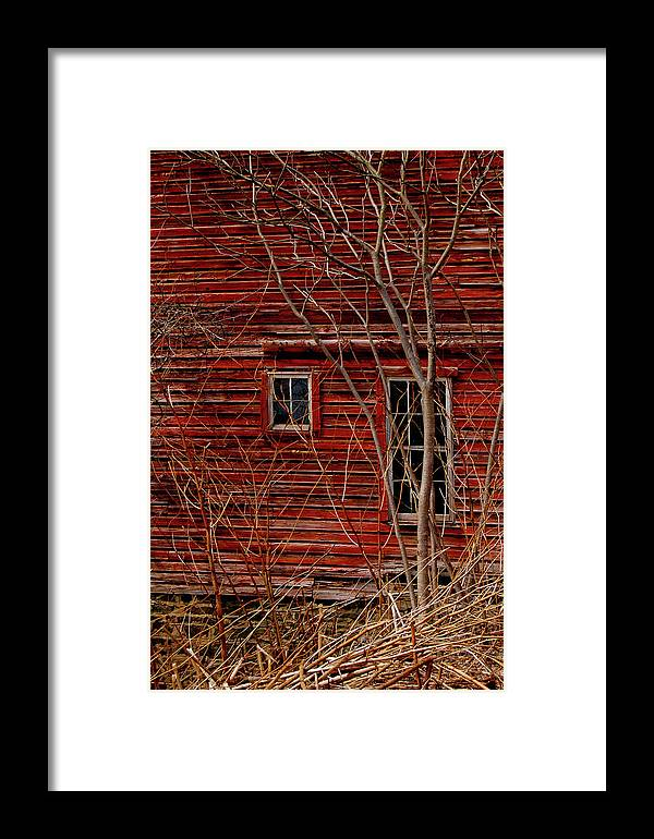 New York Framed Print featuring the photograph Barn House by Marcus L Wise