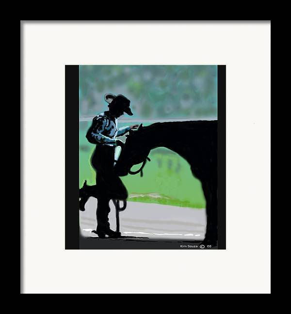 Horsemen Framed Print featuring the painting Barn Time by Kim Souza