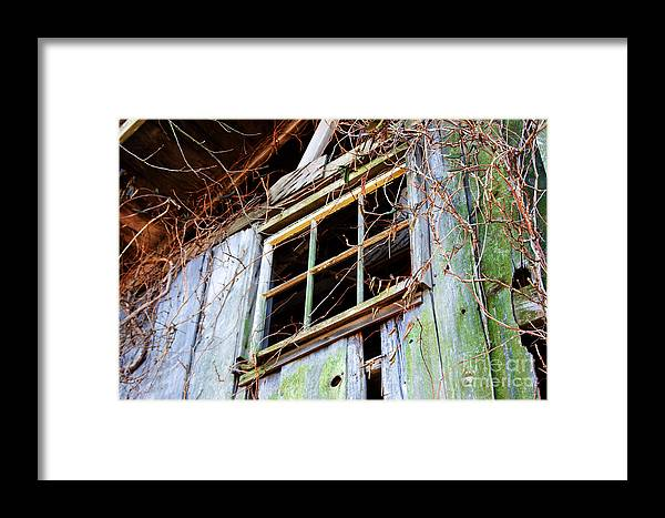 Window Framed Print featuring the photograph Barn Window by Robin Lynne Schwind