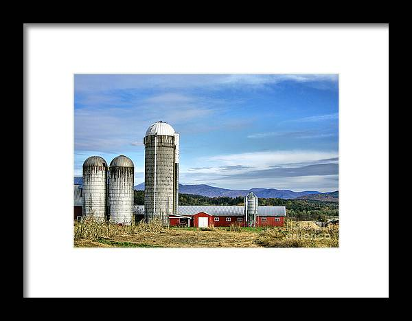 Rural Framed Print featuring the Barn With A View by Deborah Benoit