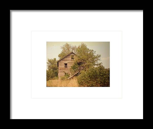 Country Framed Print featuring the photograph Barn Wood Homestead by Hal Newhouser