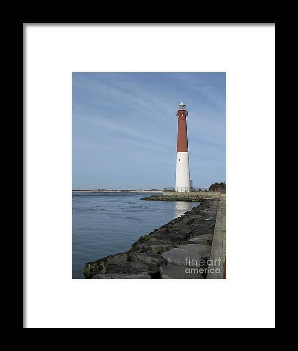 Landscapes Framed Print featuring the photograph Barnegat Lighthouse by Amanda Lenard