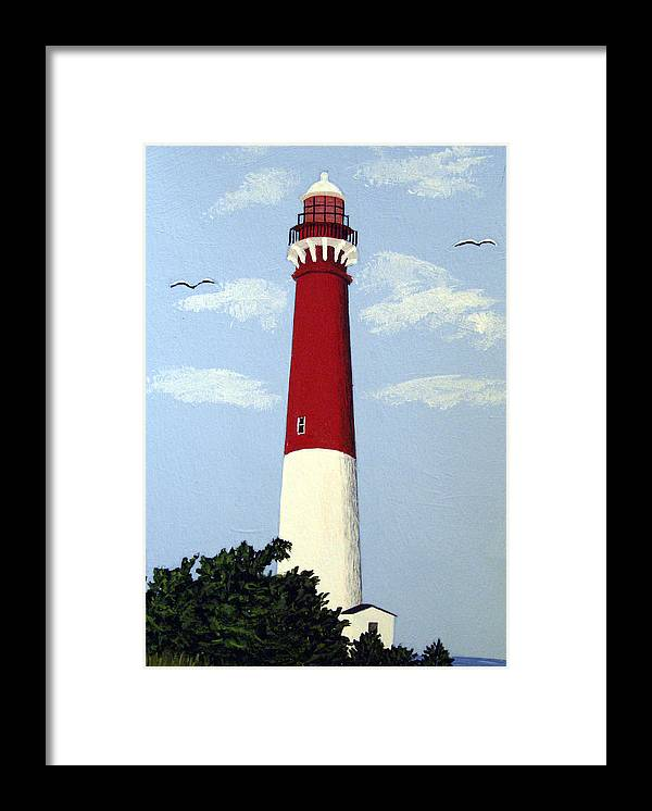 Lighthouse Paintings Framed Print featuring the painting Barnegat Lighthouse by Frederic Kohli