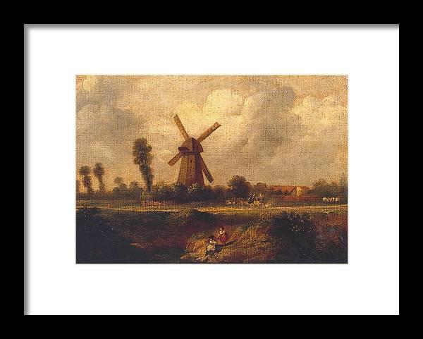 John Constable 1776�1837  �barnes Common� Framed Print featuring the painting Barnes Common by John Constable
