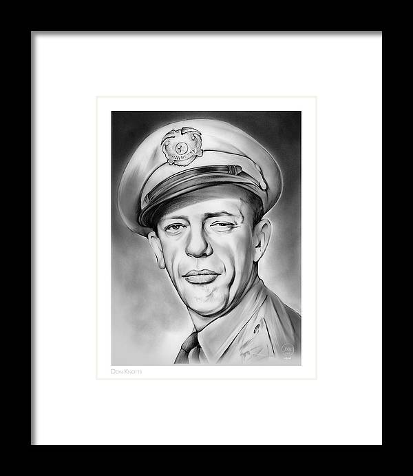Barney Framed Print featuring the drawing Barney by Greg Joens