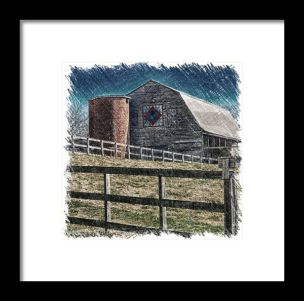 Landscape Framed Print featuring the photograph Barnscape by John Prickett