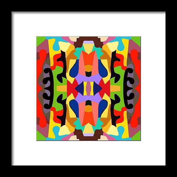 Modern Framed Print featuring the painting Barnyard 1.1 by Ken Pollard