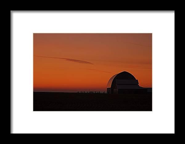 Framed Print featuring the photograph Barnyard Sunset by Mark Lemon
