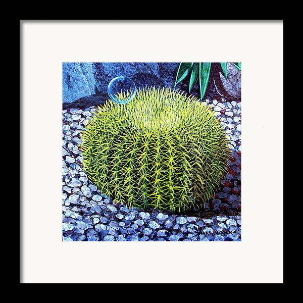Nature Framed Print featuring the painting Barrel Bubble by Snake Jagger